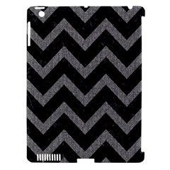 Chevron9 Black Marble & Gray Denim (r) Apple Ipad 3/4 Hardshell Case (compatible With Smart Cover) by trendistuff