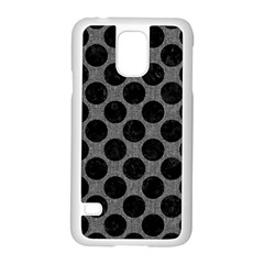Circles2 Black Marble & Gray Denim Samsung Galaxy S5 Case (white) by trendistuff