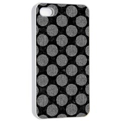 Circles2 Black Marble & Gray Denim (r) Apple Iphone 4/4s Seamless Case (white) by trendistuff