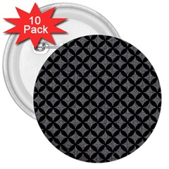 Circles3 Black Marble & Gray Denim 3  Buttons (10 Pack)  by trendistuff