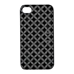 Circles3 Black Marble & Gray Denim (r) Apple Iphone 4/4s Hardshell Case With Stand by trendistuff
