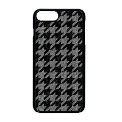 Houndstooth1 Black Marble & Gray Denim Apple Iphone 8 Plus Seamless Case (black)