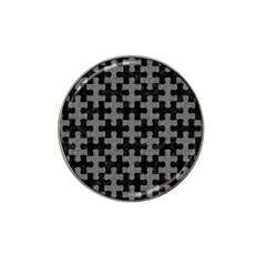 Puzzle1 Black Marble & Gray Denim Hat Clip Ball Marker (10 Pack) by trendistuff