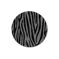 Skin4 Black Marble & Gray Denim (r) Magnet 3  (round) by trendistuff