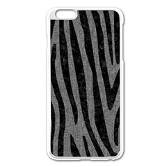 Skin4 Black Marble & Gray Denim (r) Apple Iphone 6 Plus/6s Plus Enamel White Case by trendistuff
