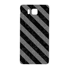 Stripes3 Black Marble & Gray Denim Samsung Galaxy Alpha Hardshell Back Case by trendistuff