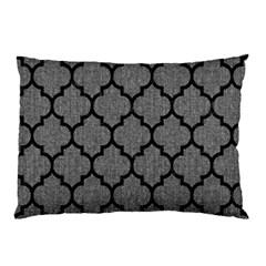 Tile1 Black Marble & Gray Denim Pillow Case by trendistuff