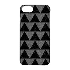 Triangle2 Black Marble & Gray Denim Apple Iphone 7 Hardshell Case by trendistuff