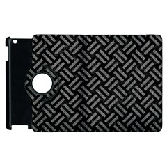 Woven2 Black Marble & Gray Denim (r) Apple Ipad 3/4 Flip 360 Case by trendistuff