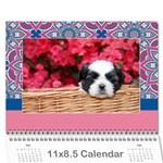Mandala Viberant calendar, 12 months - Wall Calendar 11  x 8.5  (12-Months)