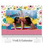 Flamingo Tropical Vacation calendar, 12 months - Wall Calendar 11  x 8.5  (12-Months)