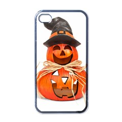 Funny Halloween Pumpkins Apple Iphone 4 Case (black) by gothicandhalloweenstore