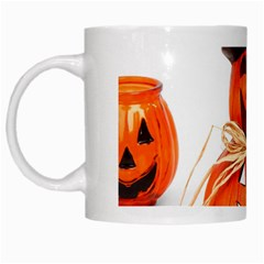 Funny Halloween Pumpkins White Mugs by gothicandhalloweenstore
