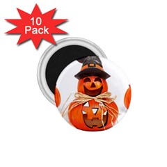 Funny Halloween Pumpkins 1 75  Magnets (10 Pack)  by gothicandhalloweenstore