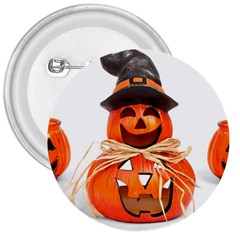 Funny Halloween Pumpkins 3  Buttons by gothicandhalloweenstore