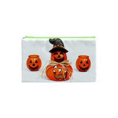 Funny Halloween Pumpkins Cosmetic Bag (xs) by gothicandhalloweenstore