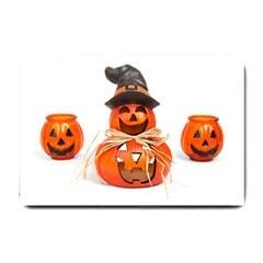 Funny Halloween Pumpkins Small Doormat  by gothicandhalloweenstore