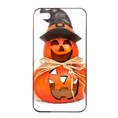 Funny Halloween Pumpkins Apple Iphone 4/4s Seamless Case (black) by gothicandhalloweenstore