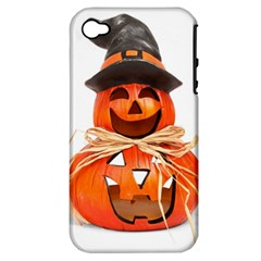 Funny Halloween Pumpkins Apple Iphone 4/4s Hardshell Case (pc+silicone) by gothicandhalloweenstore