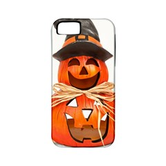 Funny Halloween Pumpkins Apple Iphone 5 Classic Hardshell Case (pc+silicone) by gothicandhalloweenstore