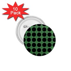 Circles1 Black Marble & Green Denim 1 75  Buttons (10 Pack) by trendistuff