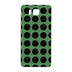 Circles1 Black Marble & Green Denim Samsung Galaxy Alpha Hardshell Back Case by trendistuff