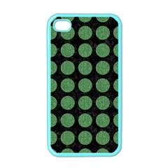 Circles1 Black Marble & Green Denim (r) Apple Iphone 4 Case (color) by trendistuff
