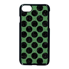 Circles2 Black Marble & Green Denim Apple Iphone 7 Seamless Case (black) by trendistuff