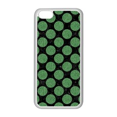 Circles2 Black Marble & Green Denim (r) Apple Iphone 5c Seamless Case (white) by trendistuff
