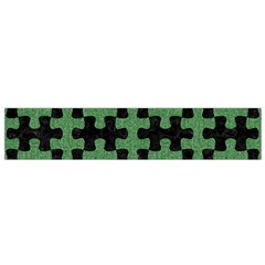 Puzzle1 Black Marble & Green Denim Small Flano Scarf by trendistuff