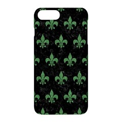 Royal1 Black Marble & Green Denim Apple Iphone 8 Plus Hardshell Case