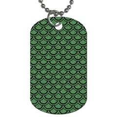 Scales2 Black Marble & Green Denim Dog Tag (one Side) by trendistuff