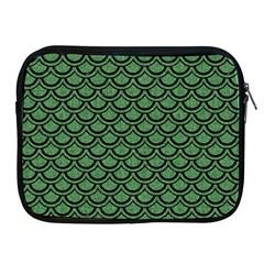 Scales2 Black Marble & Green Denim Apple Ipad 2/3/4 Zipper Cases by trendistuff