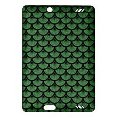 Scales3 Black Marble & Green Denim Amazon Kindle Fire Hd (2013) Hardshell Case