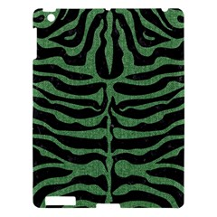 Skin2 Black Marble & Green Denim (r) Apple Ipad 3/4 Hardshell Case by trendistuff