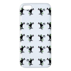 Floral Monkey With Hairstyle Apple Iphone 5 Premium Hardshell Case by pepitasart