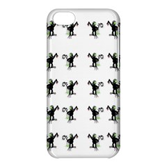 Floral Monkey With Hairstyle Apple Iphone 5c Hardshell Case by pepitasart