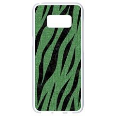 Skin3 Black Marble & Green Denim Samsung Galaxy S8 White Seamless Case by trendistuff