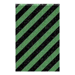 Stripes3 Black Marble & Green Denim (r) Shower Curtain 48  X 72  (small)  by trendistuff