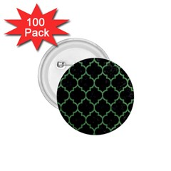 Tile1 Black Marble & Green Denim (r) 1 75  Buttons (100 Pack)  by trendistuff