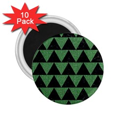 Triangle2 Black Marble & Green Denim 2 25  Magnets (10 Pack)  by trendistuff