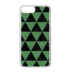 Triangle3 Black Marble & Green Denim Apple Iphone 8 Plus Seamless Case (white) by trendistuff
