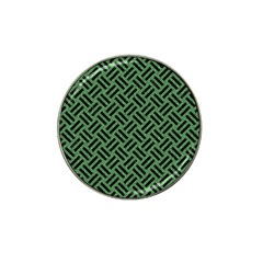 Woven2 Black Marble & Green Denim Hat Clip Ball Marker (4 Pack) by trendistuff