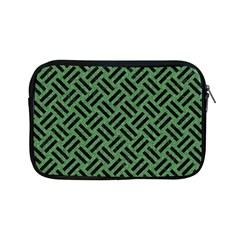 Woven2 Black Marble & Green Denim Apple Ipad Mini Zipper Cases by trendistuff