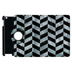 Chevron1 Black Marble & Ice Crystals Apple Ipad 2 Flip 360 Case by trendistuff