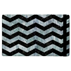 Chevron3 Black Marble & Ice Crystals Apple Ipad 3/4 Flip Case by trendistuff