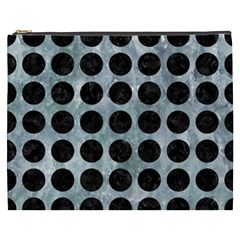 Circles1 Black Marble & Ice Crystals Cosmetic Bag (xxxl)  by trendistuff