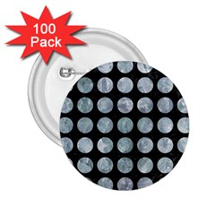 Circles1 Black Marble & Ice Crystals (r) 2 25  Buttons (100 Pack)  by trendistuff