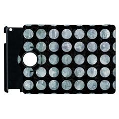 Circles1 Black Marble & Ice Crystals (r) Apple Ipad 3/4 Flip 360 Case by trendistuff