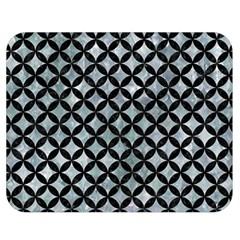 Circles3 Black Marble & Ice Crystals Double Sided Flano Blanket (medium)  by trendistuff